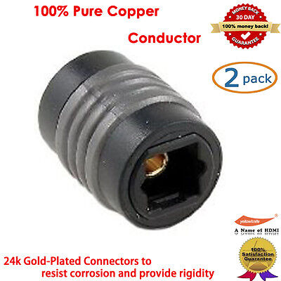 2 Packs, Optical Extension Coupler, 24K Gold-Plated
