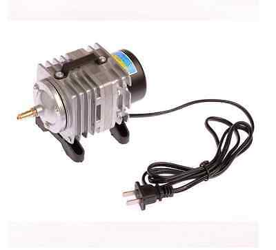 Electromagnetic AIR PUMP FOR AQUARIUM HYDROPONIC POND Electromagnetic 20W silver