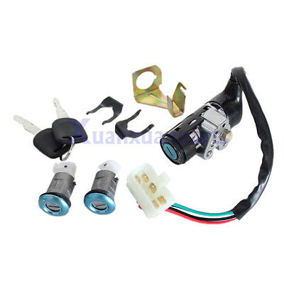 Ignition Switch Key Set 5 Wires Moped Scooter Gy6 50cc 125cc 150cc Roketa Jonway