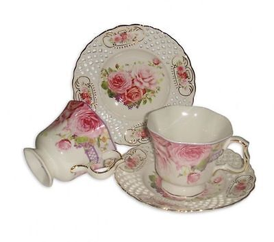 Fine Bone China 2 cups & 2 saucers tea set