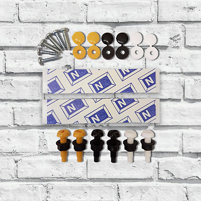 Number Plate Fixing Kit / Fitting Set for Cars / Motorbikes - Screws Sticky pads