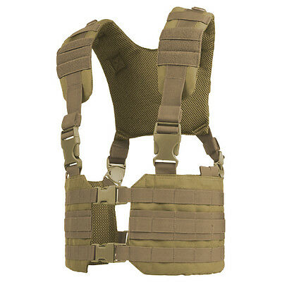 Condor Ronin Adjustable Army Combat Chest Rig Vest Molle Webbing Carrier Coyote