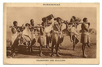 Madagascar.transport Des Malades.transport Of The Patients.