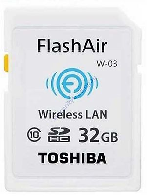 Toshiba SDHC FlashAir C10 Wifi 32GB Wireless Memory Card SD HC SD-R032GR7AL01 A