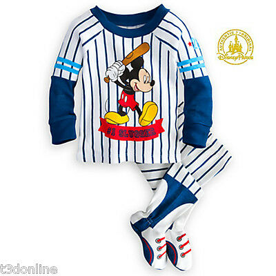 Authentic Disney Mickey Mouse Pyjama PJ for Baby Boy Baseball uniform style New