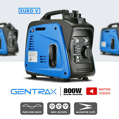 GenTrax Portable Inverter Generator 800W Max 700W Rated Pure Sine Petrol New
