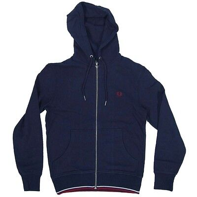 Fred Perry Tipped Zip Through Hoody Sweaters Men (J3336) Authentic Size M New