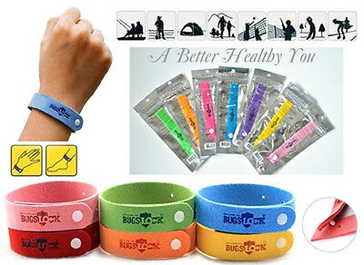 5 Anti Mosquito Bug Repellent Wrist Band Bracelet Insect Bug Lock Camping