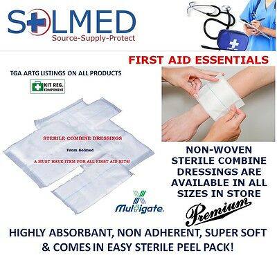10CM x22CM (x 20) WOUND DRESSING COMBINE DRESSINGS STERILE FIRST AID WOUNDCARE