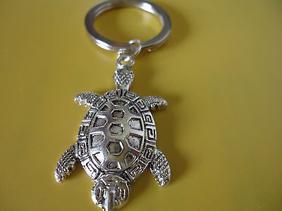 Antiquee Silver Alloy Turtle Keyring for Prosperity Abundance Strength(142674)