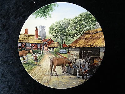 Royal Doulton collectors plate - The Smithy - Issued 1991