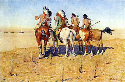 The Pioneers  by Frederic Remington   Giclee Canvas Print Repro