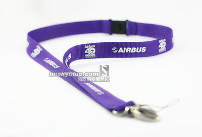 Lanyard 1.Airline AIRBUS 40th Anniversary Purple Lanyard