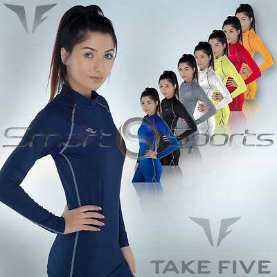 Ladies Lightweight Compression Top Womens Baselayer Long Sleeve Skins Take 5