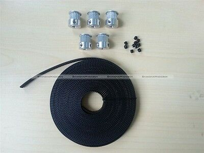 5Pcs GT2 20 tooth Timing Pulleys And 5 Meters Of GT2 Belt 3D Printing CNC Reprap
