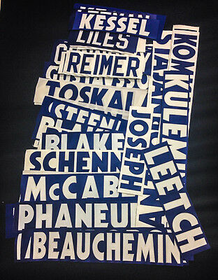 Assortment of Toronto Maple Leafs Namebars Jersey Kit
