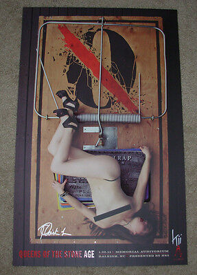 QUEENS OF THE STONE AGE concert gig tour poster 1-30-14 RALEIGH 2014 kii arens
