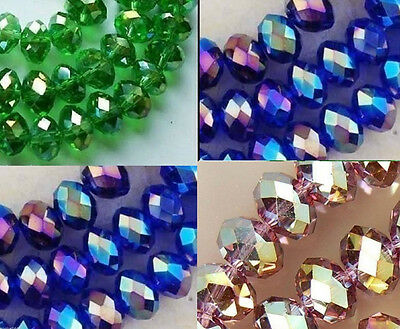 100//300//600Pcs Crystal charm Bicone loose spacer 4mm glass beads,black AB