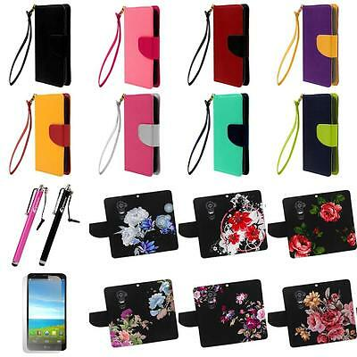 LG Optimus G2 D802 Luxury Leather Flip Stand Wallet Card Holder Case Cover Pouch