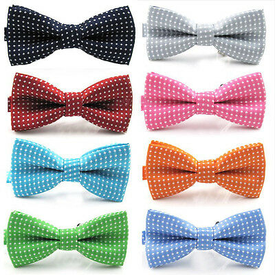 Classic Fashion Baby Boy Kid Polka Dots Party Wedding Tuxedo Bowties Tie Necktie