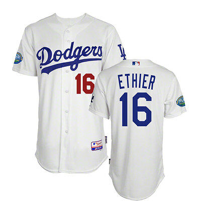 2012 Andre Ethier Los Angeles Dodgers Authentic Cool Base 50th Home Jersey