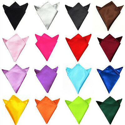 Mens Fashion Satin Silk Wedding Party Hanky Pocket Square Handkerchief