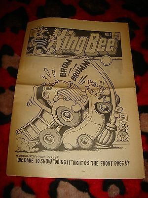 King Bee #1 Underground Paper R.crumb S. Clay Wilson 1969