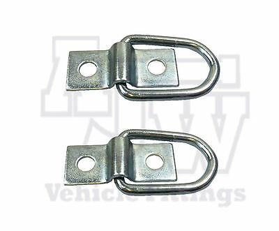 2 X Lashing Ring & Staple Cleat Tie Down Trailers Vans Truck Horsebox Boat Rope