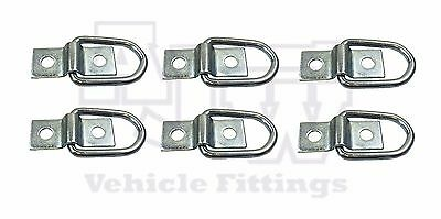 6 X Lashing Ring & Staple Cleat Tie Down Trailers Vans Truck Horsebox Boat Rope