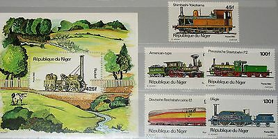 NIGER 1980 707-11 Block 29 514-519 Locomotives Lokomotiven Eisenbahn Railroad NH