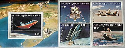 NIGER 1981 742-45 Block 32 C305-C309 Apollo 11 Moon Landing Space Raumfahrt MNH