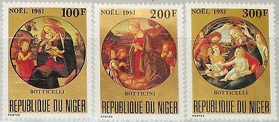 NIGER 1981 779-81 569-71 Christmas Weihnachten Religion Paintings Gemälde MNH