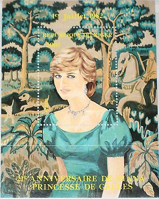 NIGER 1982 Block 36 S/S 580 Prinzessin Princess Diana Royals Famous Person MNH