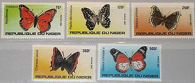 NIGER 1983 867-71 643-47 Local Butterflies Schmetterlinge Fauna Insects MNH