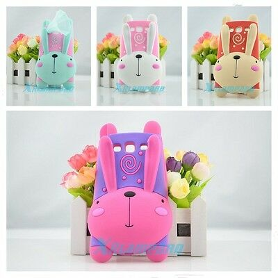Cute 3D Cartoon Rabbit Silicone Cover Case Stand For Samsung Galaxy S3 S4 Note 2