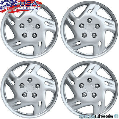 "4 New Oem Silver 14"" Hubcaps Fits Isuzu Suv Truck Car Center Wheel Covers Set"