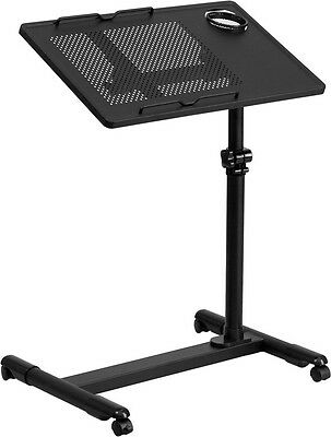 Mobile Adjustable Laptop Stand in Black Finish - School Lectern, Church Lectern