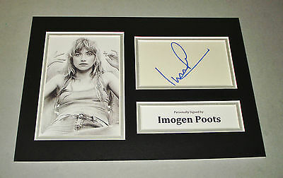 Imogen Poots Signed A4 Photo Display Need For Speed Autograph Memorabilia + COA