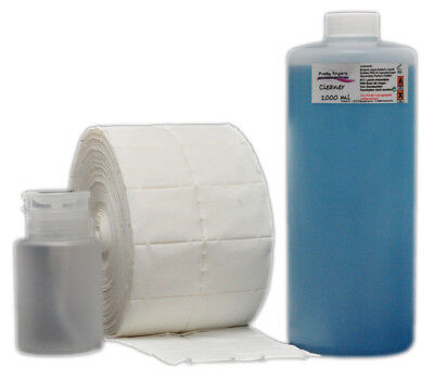 1000ml Cure-ongles Nettoyant 500 Pads + Flacon-pompe