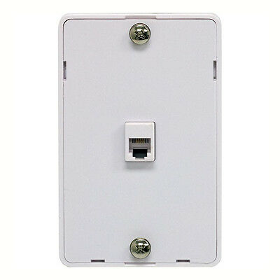 ge phone jack duplex wall mount plate 2 telephone outlet 4 wire eagle phone jack wall plate modular white surface mount 4 wire rj11 telephone
