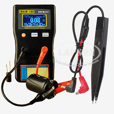 Auto Range In Circuit ESR Capacitor Meter Tester Up to 0.001 to 100R MESR100 US