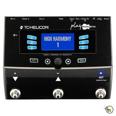 TC Helicon Play Acoustic Guitar Vocal Effects Processor Looper Harmony Pedal