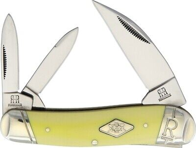 Lot Schrade Old Timer 3 Blade Junior Stockman Yellow 108Ot Plus Stone 2306