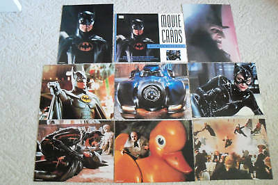 Batman Returns~1992~11X14  Lobby Card Set 8~Original~Keaton~Pfeiffer~Devito