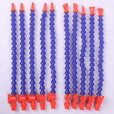 Flexible Plastic Water Oil Coolant Pipe Hose Tap 5 flat +5 round for CNC Machine