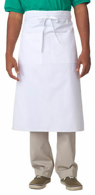 UltraClub Two Front Pockets Long Waiter's Waist Cafe Bistro Apron. 8207
