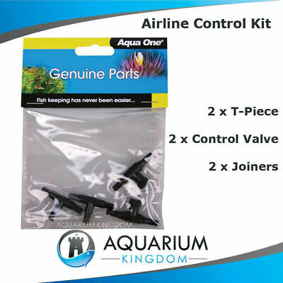 #10414 Aqua One Airline Control Kit - 2 Control Valves/Taps, 2 T-Piece, 2 Joiner
