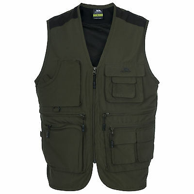 Trespass TACKLE Mens Waterproof Fly Fishing Waistcoat Anti-Mosquito Vest