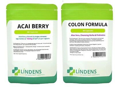Acai Berry  Colon Cleanse; 120 pills (30 day programme) weight loss / diet