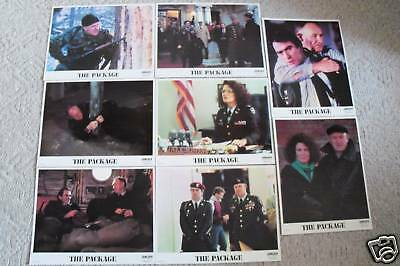 The Package~1989~11X14 Lobby Card Set 8~Original~Gene Hackman & Tommie Lee Jones